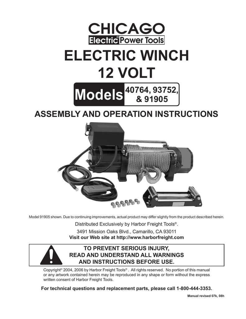 hight resolution of chicago electric 40764 user s manual