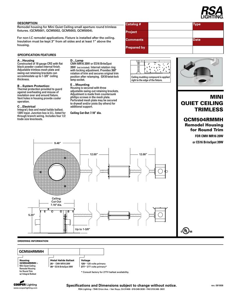 hight resolution of cooper lighting qcm504rmmh user s manual
