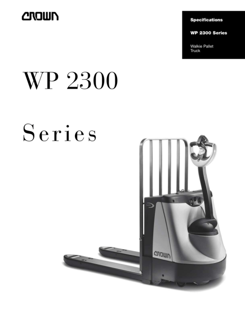 small resolution of crown equipment walkie pallet truck wp 2300 user s manual