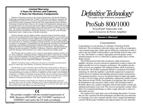 small resolution of definitive technology prosub 800 1000 user s manual