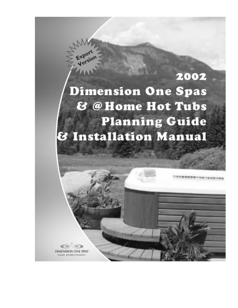 medium resolution of dimension one spas home hot tubs user s manual