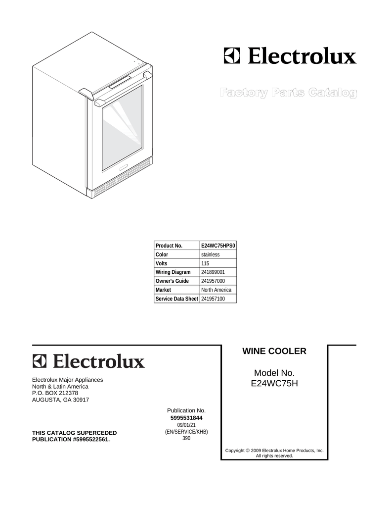medium resolution of electrolux e24wc75h user s manual manualzz com electrolux wiring color