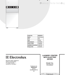 electrolux washer dryer fex831f user s manual product no fex831fs2 market north america color white volts 120 240 wiring  [ 791 x 1024 Pixel ]