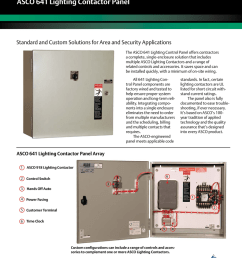 emerson asco 641 lighting control panel brochures and data sheets [ 791 x 1024 Pixel ]