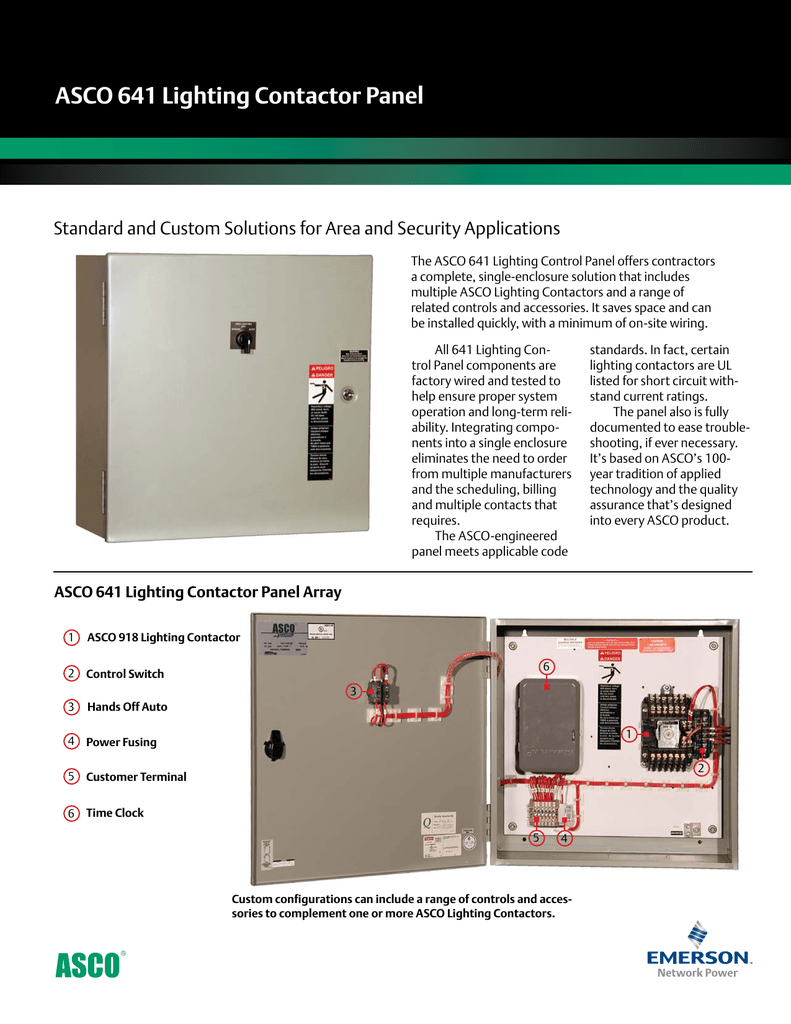 hight resolution of emerson asco 641 lighting control panel brochures and data sheets