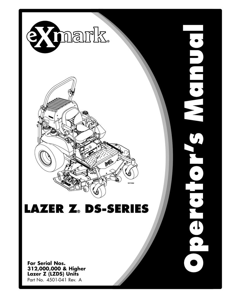 hight resolution of exmark exmark lazer z ds series lzds user s manual