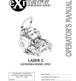 exmark lz27kc604 user s manual [ 791 x 1024 Pixel ]