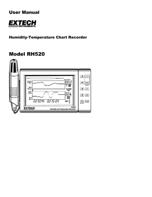 small resolution of extech instruments rh520 user s manual
