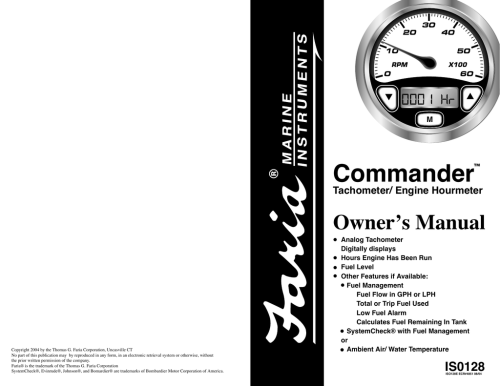 small resolution of faria instruments commander user s manual