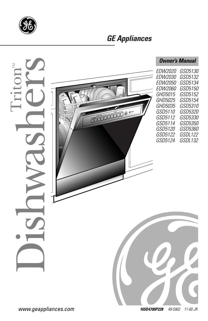 Ge Dishwasher Keeps Beeping : dishwasher, keeps, beeping, General, Electric, Dishwasher, 5035,, GHD5025FBB, Manual, Manualzz