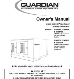 generac power systems 43734 user s manual [ 791 x 1024 Pixel ]