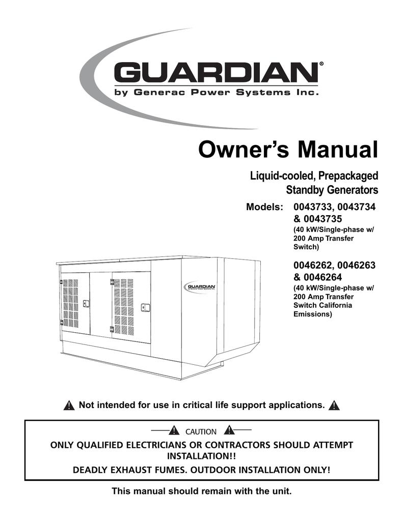medium resolution of generac power systems 43734 user s manual