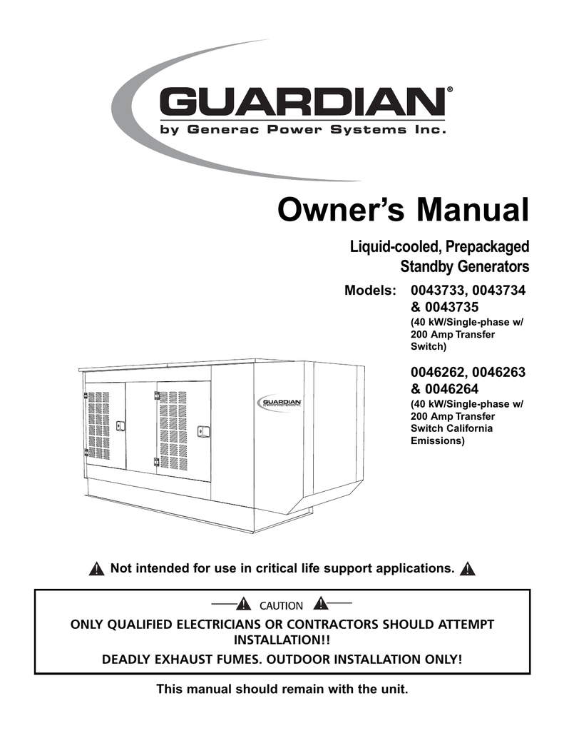 hight resolution of generac power systems 43734 user s manual