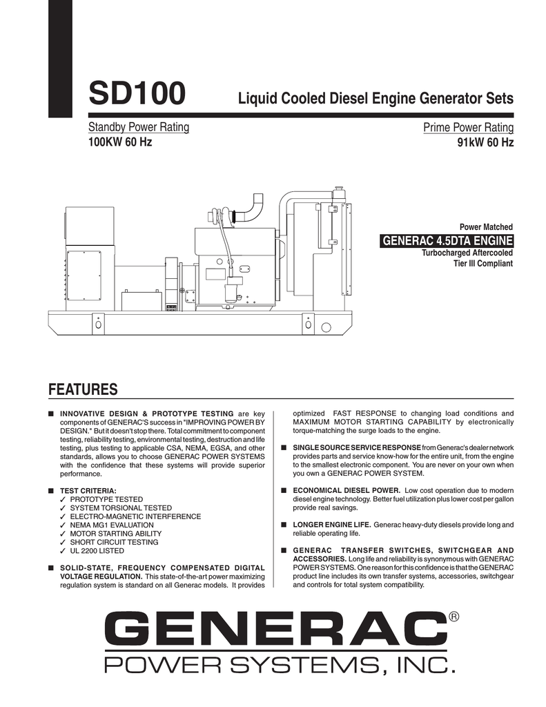 hight resolution of  generac sd100 user s manual manualzz com on generac rts transfer switch wiring