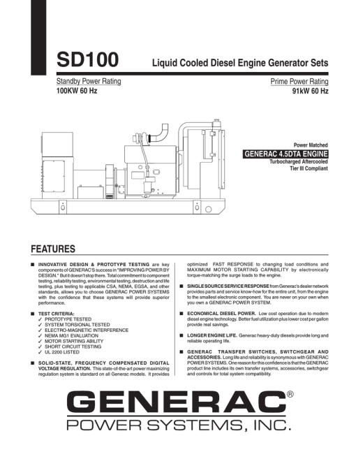 small resolution of  generac sd100 user s manual manualzz com on generac rts transfer switch wiring