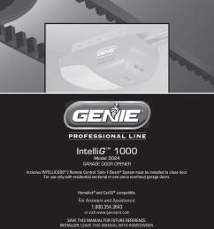 genie intellig 3024 user s manual [ 791 x 1024 Pixel ]