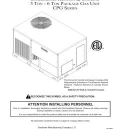 goodman mfg commercial heating and cooling gas unit cpg series user s manual [ 791 x 1024 Pixel ]