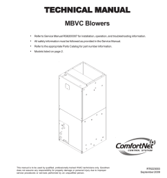 goodman mfg mbvc rt6223003 user s manual [ 791 x 1024 Pixel ]