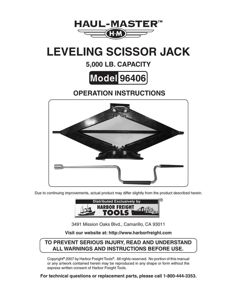 medium resolution of harbor freight tools 2 5 ton scissor jack product manual