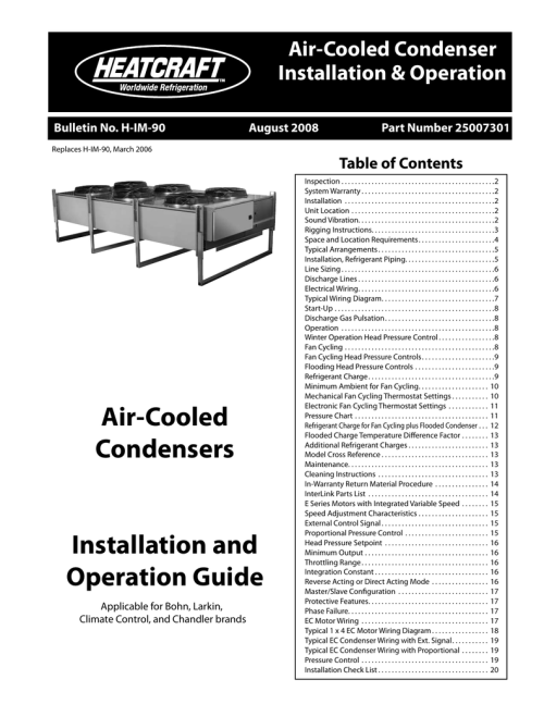 small resolution of  russell refrigeration heatcraft refrigeration products air cooled condensers none user s on bohn evaporator wiring diagram