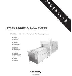 hobart corp ft900bd user s manual ft900 series dishwashers  [ 791 x 1024 Pixel ]