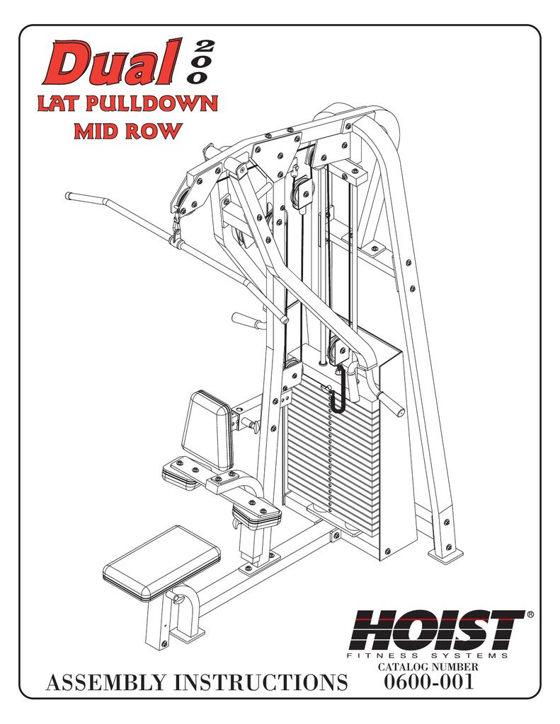 Hoist Fitness Dual LAT PULLDOWN MID ROW 0600-001 User's