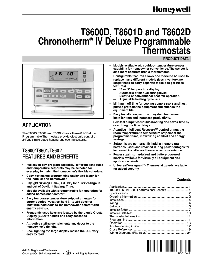 hight resolution of honeywell chronotherm t8600d user s manual