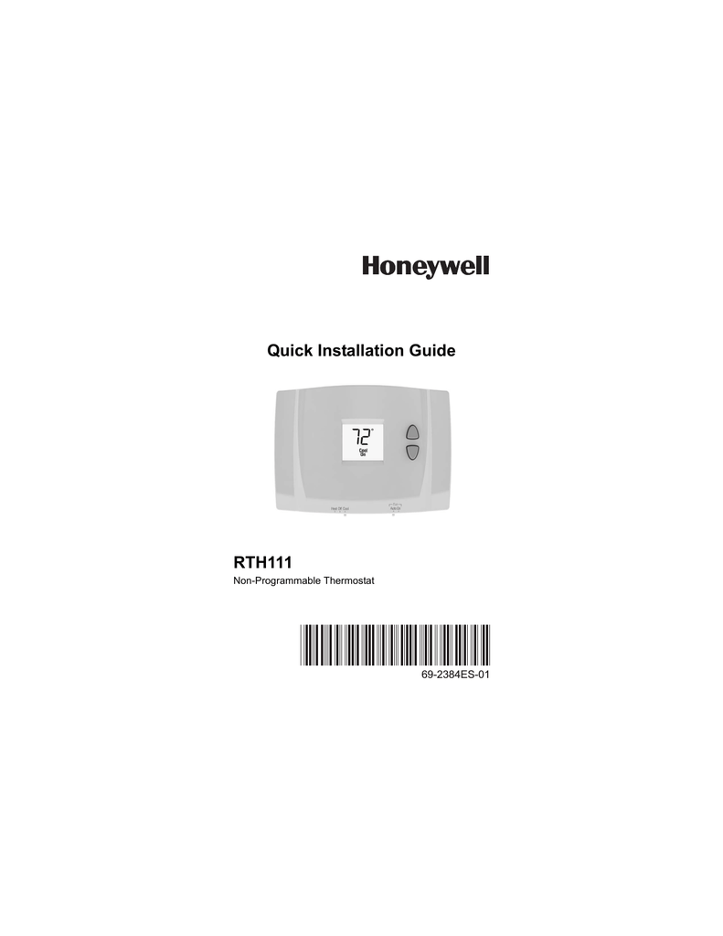 hight resolution of honeywell thermostat rth111 user s manual