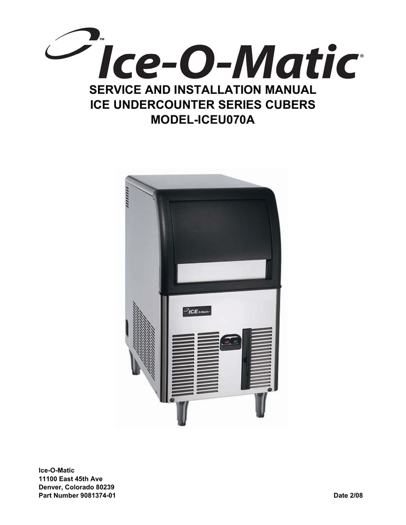 hight resolution of ice o matic iceu070a user s manual