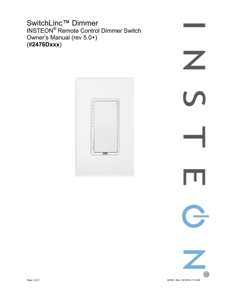 hight resolution of insteon 2476d user s manual