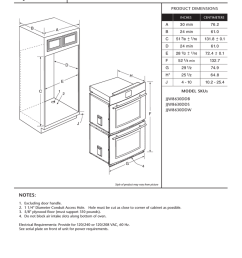 jenn air jjw8630ddb user s manual double wall oven  [ 791 x 1024 Pixel ]
