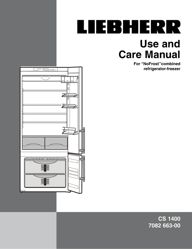 hight resolution of liebherr nofrost combined refrigerator freezer cs 1400 7082 663 00 user s manual