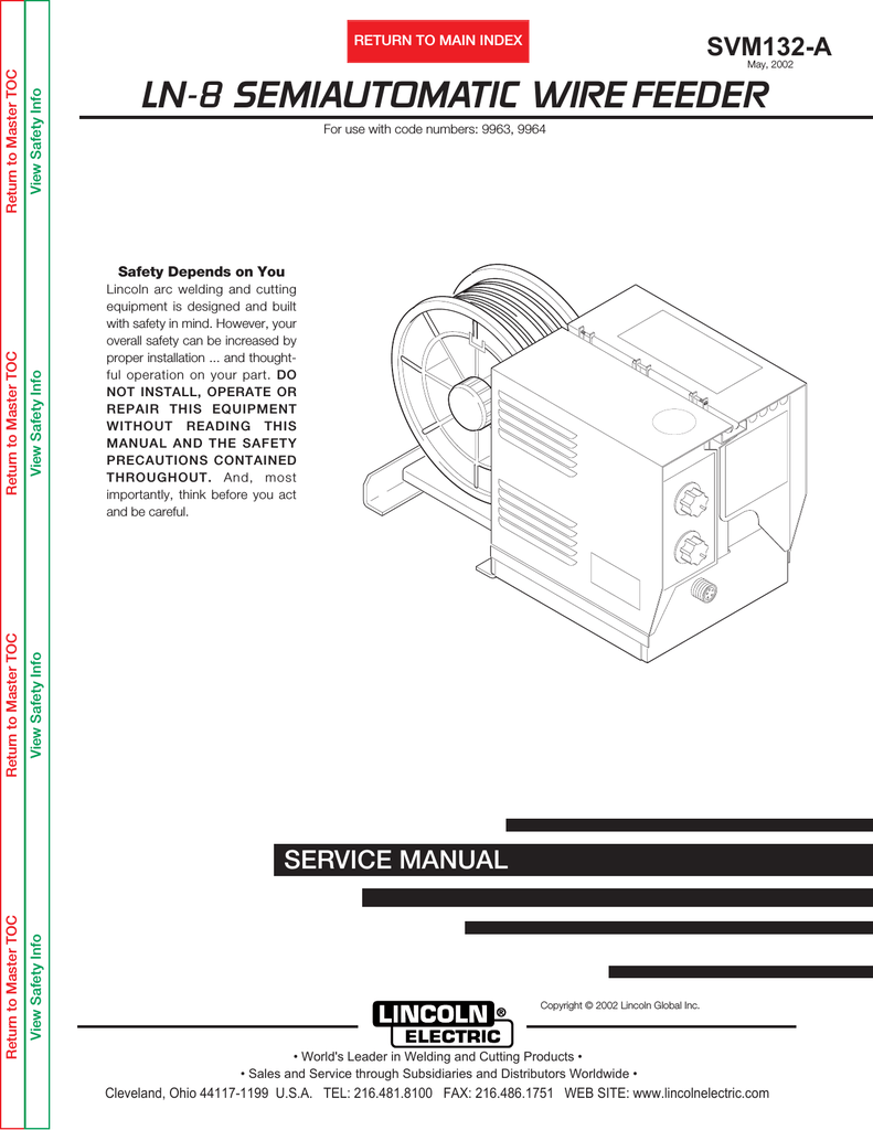medium resolution of lincoln electric ln 8 svm132 a user s manual