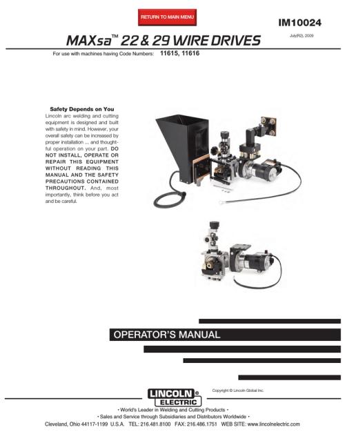 small resolution of lincoln electric maxsa im10024 user s manual