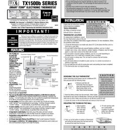 lux products tx1500 discontinued instruction manual installation and operating instructions tx1500b series smart temp  [ 791 x 1024 Pixel ]