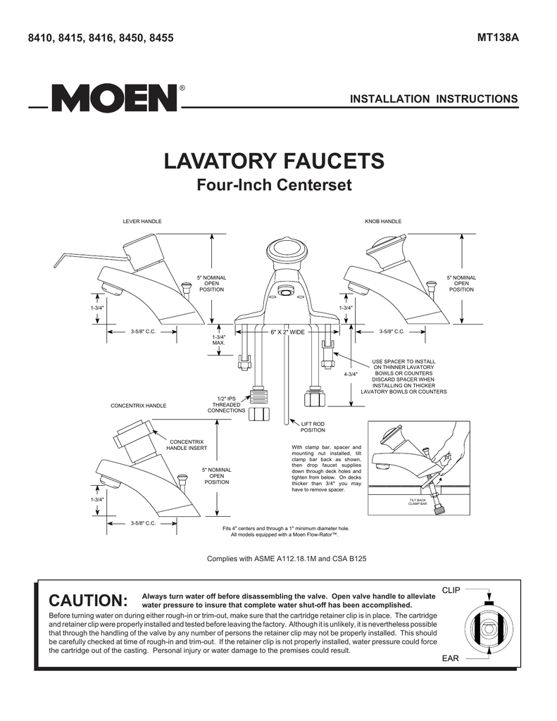hight resolution of moen mt138a user s manual