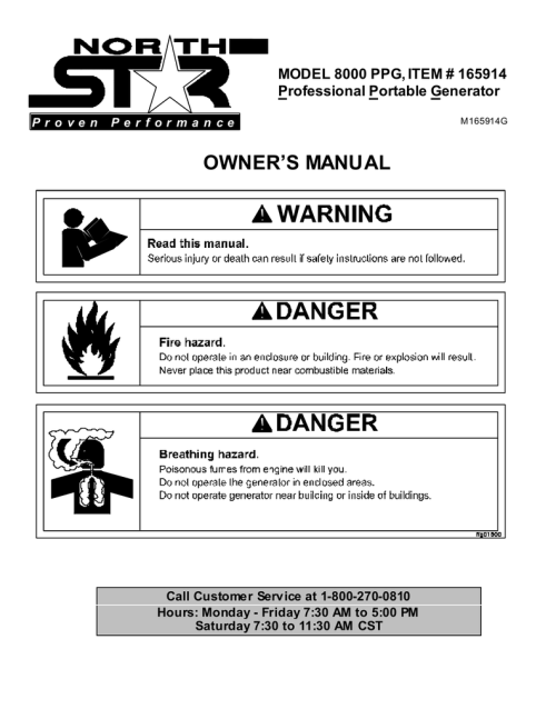 small resolution of north star 8000 ppg user s manual