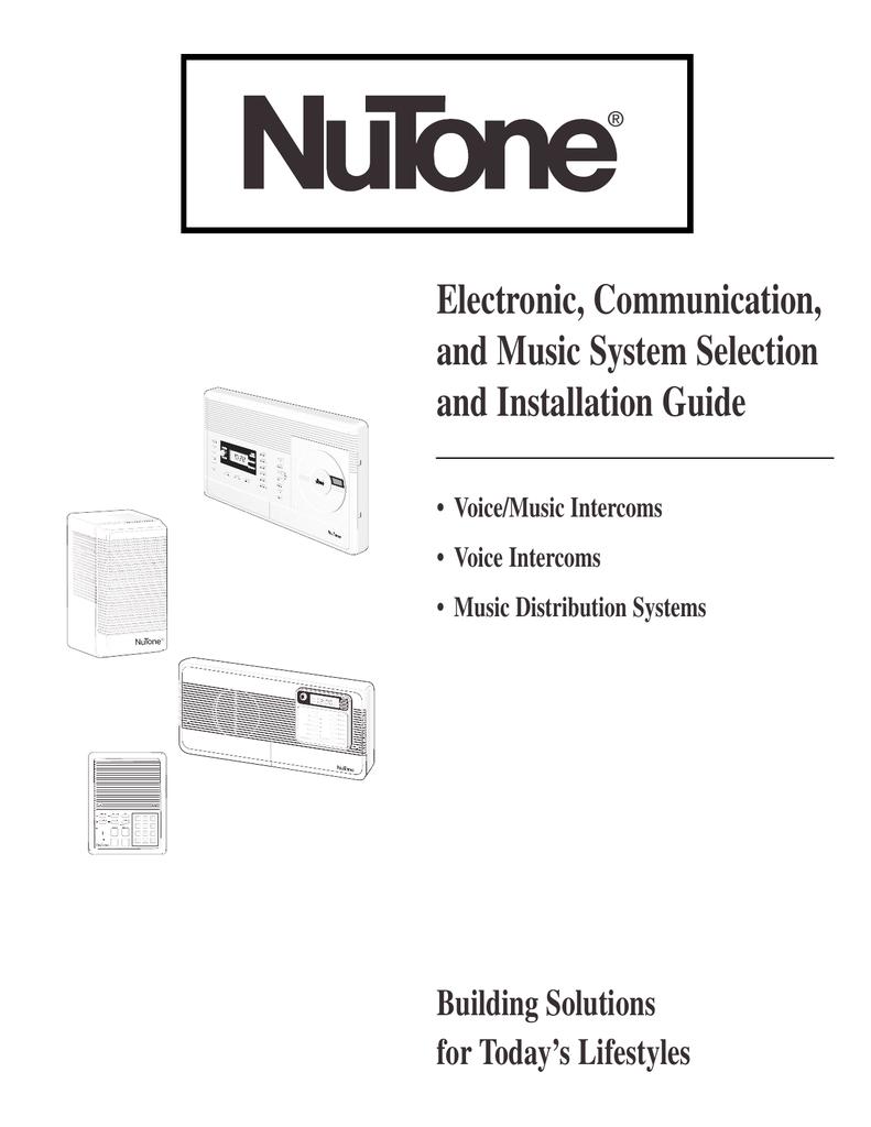 File: Nutone Intercom Wiring Diagram