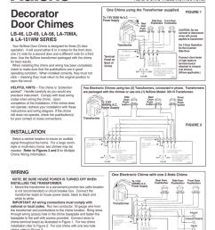 nutone la 151wm user s manual manualzz com nutone intercom parts ld49 nutone door chimes wiring diagram [ 791 x 1024 Pixel ]
