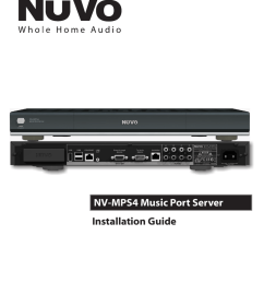 nuvo nv mps4 user s manual [ 791 x 1024 Pixel ]