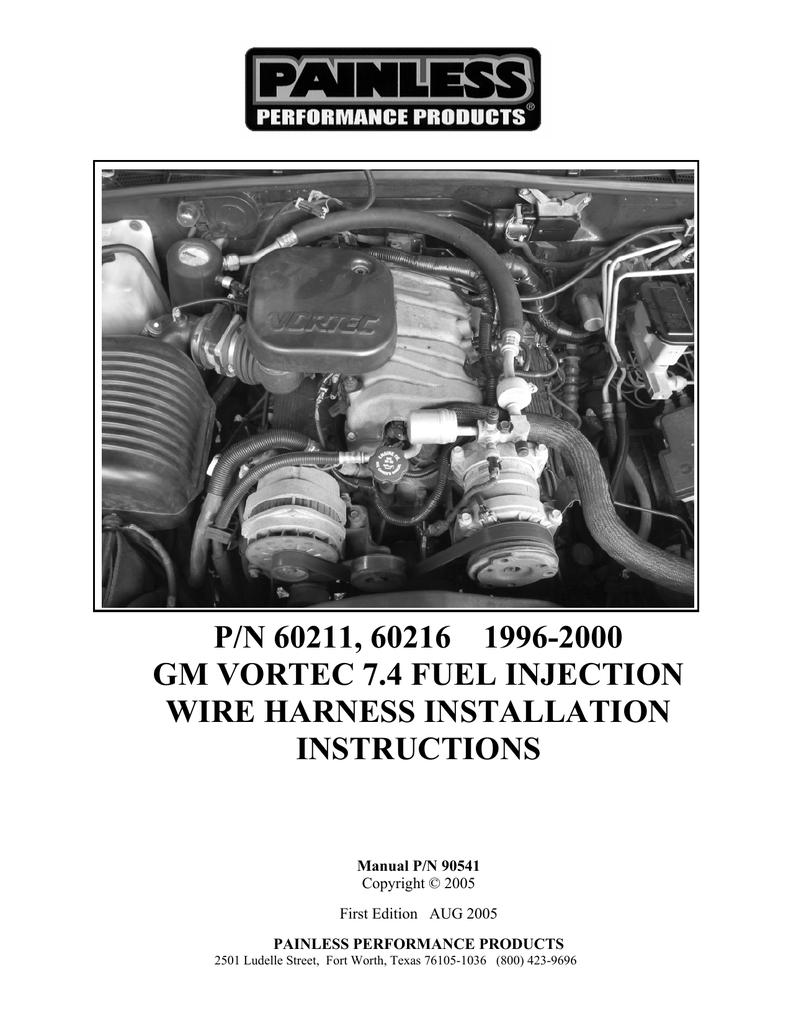 medium resolution of  painless performance vortec 60211 user s manual manualzz com on