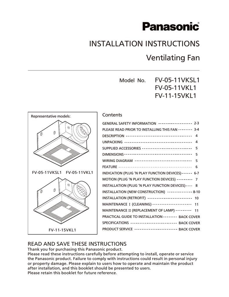 medium resolution of diagram fv wiring panasonic 0511vk1 panasonic fv 05 11vk1 installation manual manualzz companasonic fv 05 11vk1 installation manual
