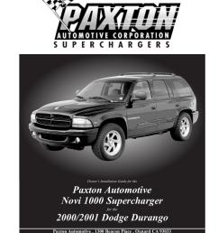 paxton automotive tablet accessory dodge durango user s manual [ 791 x 1024 Pixel ]