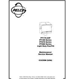 pelco pt180 user s manual [ 791 x 1024 Pixel ]