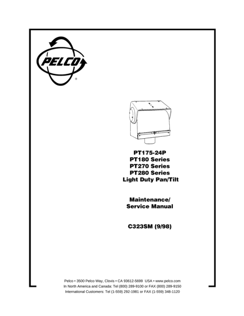 small resolution of pelco pt180 user s manual