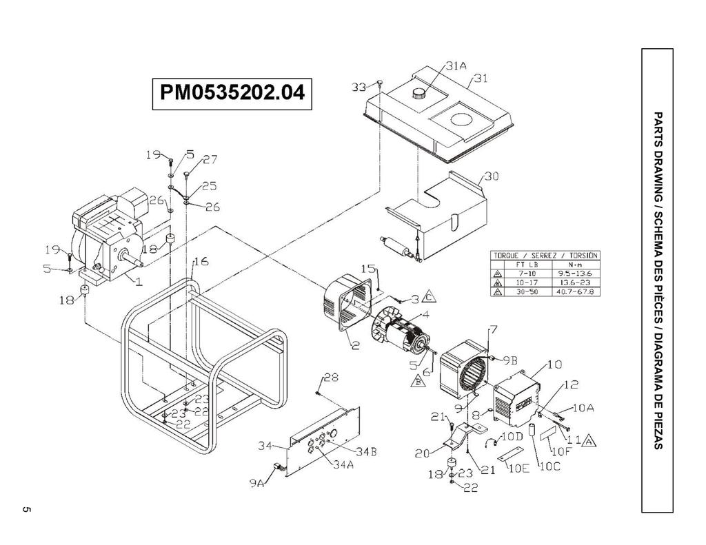 Powermate Pm 04 Parts List