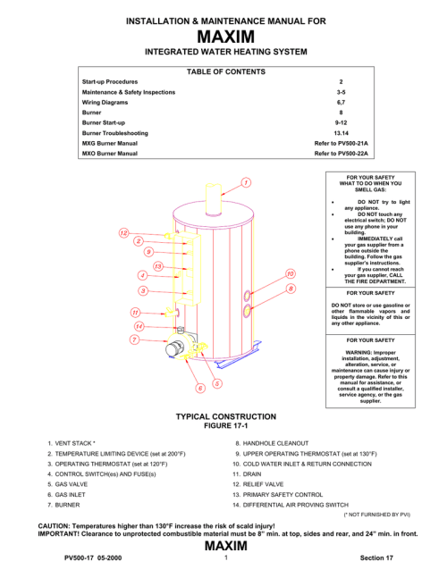 small resolution of pvi industries maxim integrated water heating system user s manual installation