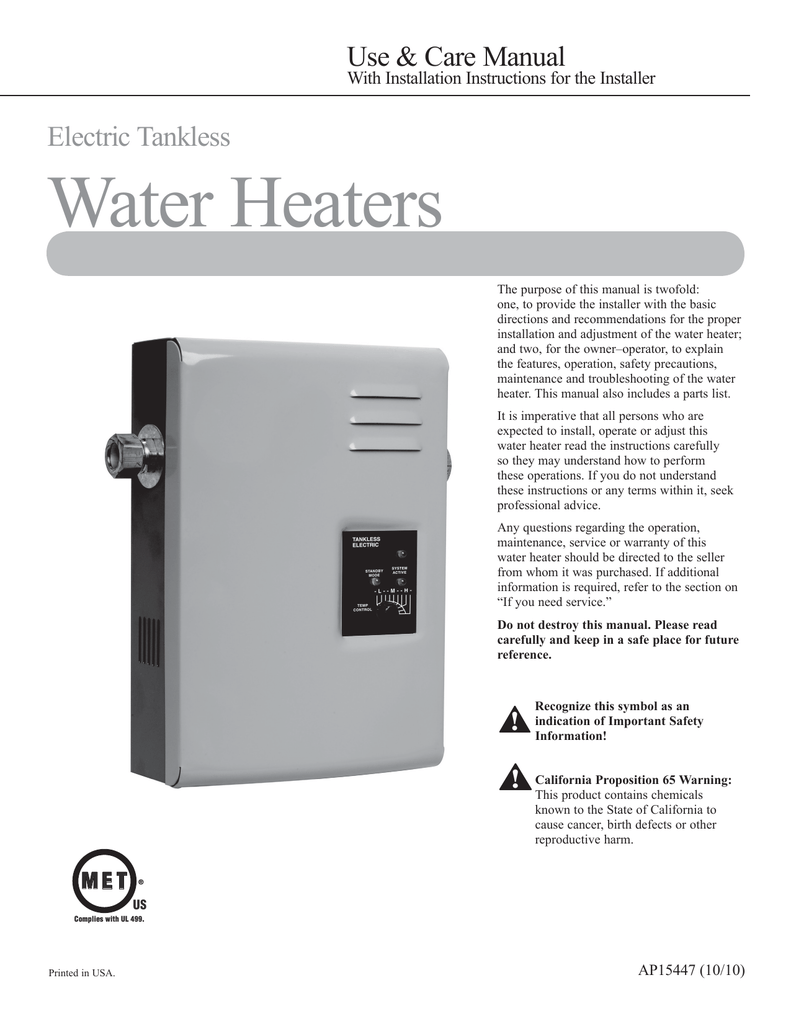hight resolution of rheem tankless electric rte 27 use care manual
