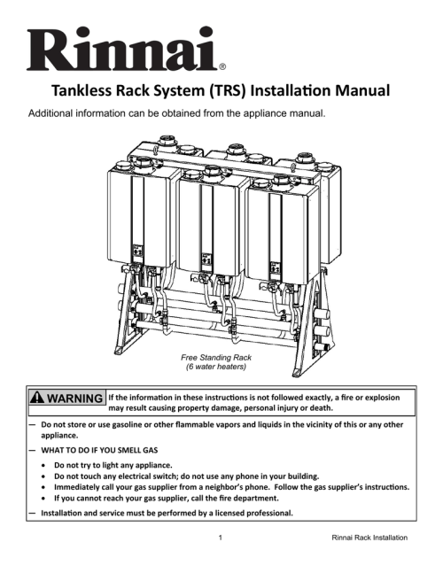 small resolution of rinnai tankless rack system installation owner s manual
