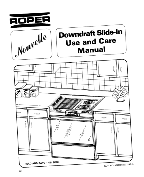 small resolution of roper downdraft slide in 4347928 333240 1 user s manual